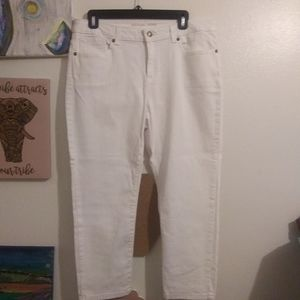 NWT white micheal khors cropped jeans